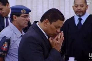 Mizael Bispo de Souza ouve a sentença: mentira, trapaça e dissimulação não convenceram o júri -oFto: Uol