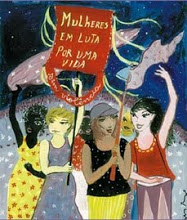 Cartaz da Marcha Mundial de Mulheres PE - capturada no sítio do movimento