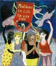 Cartaz da Marcha Mundial de Mulheres PE - capturada no sítio do movimento