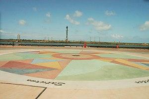 O Marco Zero, com o Parque das Esculturas ao fundo -  PCR/Turismo