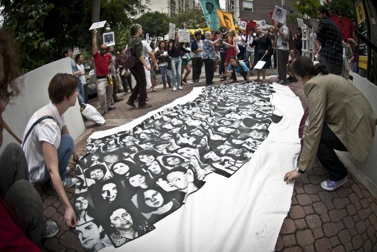 Em memória das vítimas da ditadura, protesto em São Paulo - AgBr 2012
