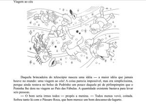 Ilustração original e trecho do livro