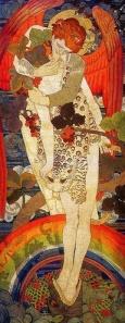 'Paixão', do simbolista austríaco Gustav Klimt, um dosmais proeminentes do Movimento de Sesessão de Viena (1862/1918)