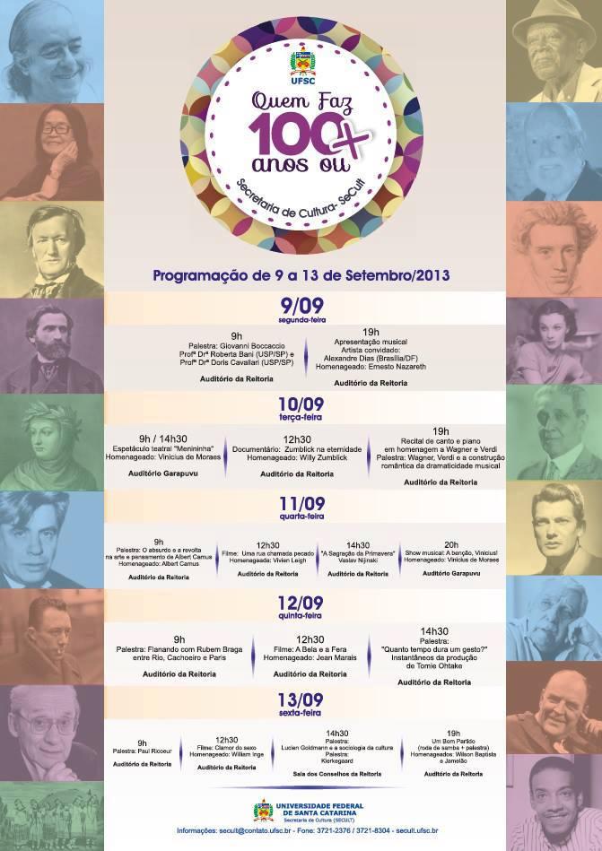 Programa Quem faz 100 anos ou mais