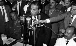 João Goulart no Comício da Central do Brasil, 1964 - foto capturada em Carta Maior