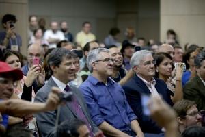 o prefeito de São Paulo, Fernando Haddad e o ex-ministro da Saúde, Alexandre Padilha no IV BlogProg - Paulo Pinto/Fotos Públicas