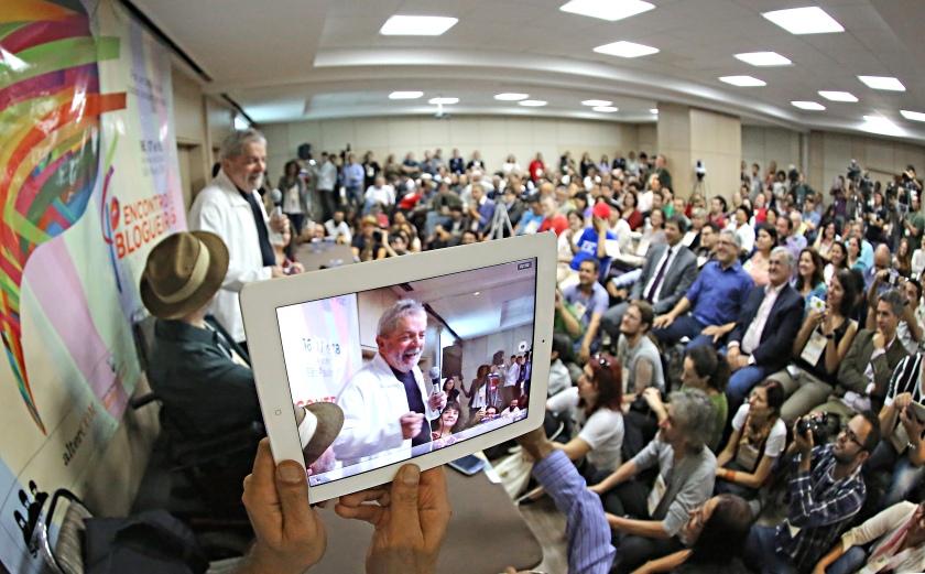Lula no IV Blogprog -  Foto:   Ricardo Stuckert/Instituto Cidadania/Fotos Públicas