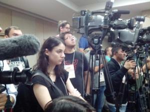 O batalhão da imprensa