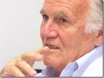 Mino Carta, jornalista e escritor, diretor de Carta Capital - Foto capturada na rede?Confraria dos Pensadores
