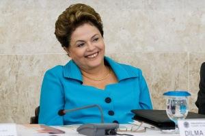 A presidenta Dilma Roussef: bom humor na reunião do Conselho de Desenvolvimento Econômico e Social - Foto: Roberto Stuckert Filho/PR
