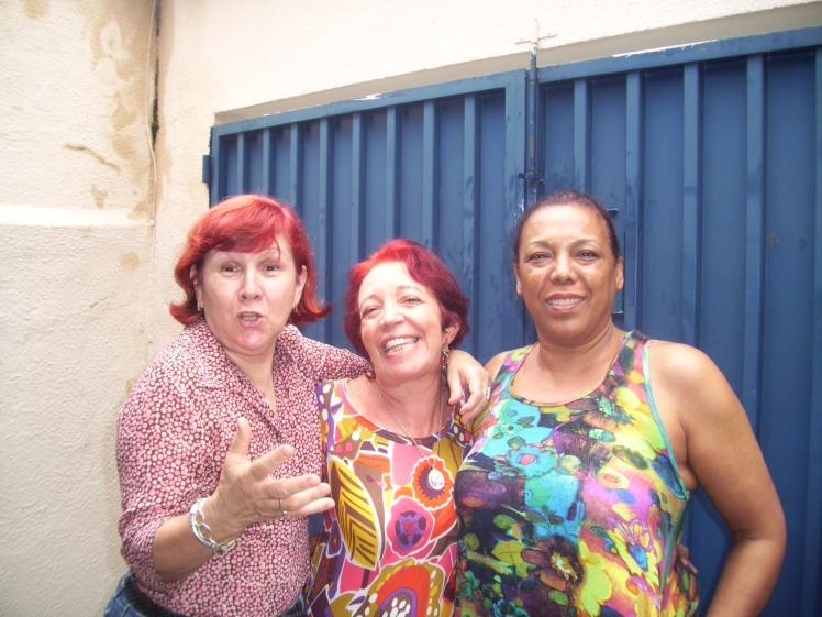 Silvéria Xuxu e Eneida comemoram comigo meus 5.6  - dez/2009