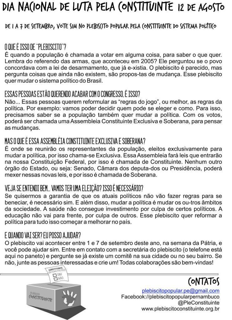 Panfleto 1 - Dia de Luta Nacional