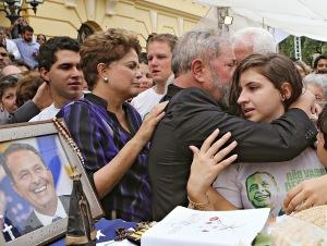 Lula acompanhou Dilma no velório de Eduardo Campos, e não conteve a emoção - Foto: Ricardo Stuckert Filho/Instituto Lula