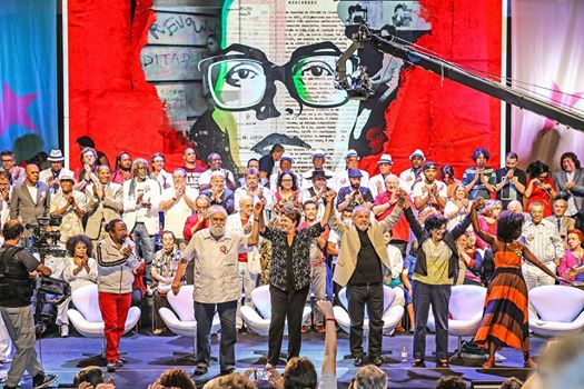 Ato Cultural dos artistas com Dilma e Lula, no Rio - Foto:  Blog do Rovai