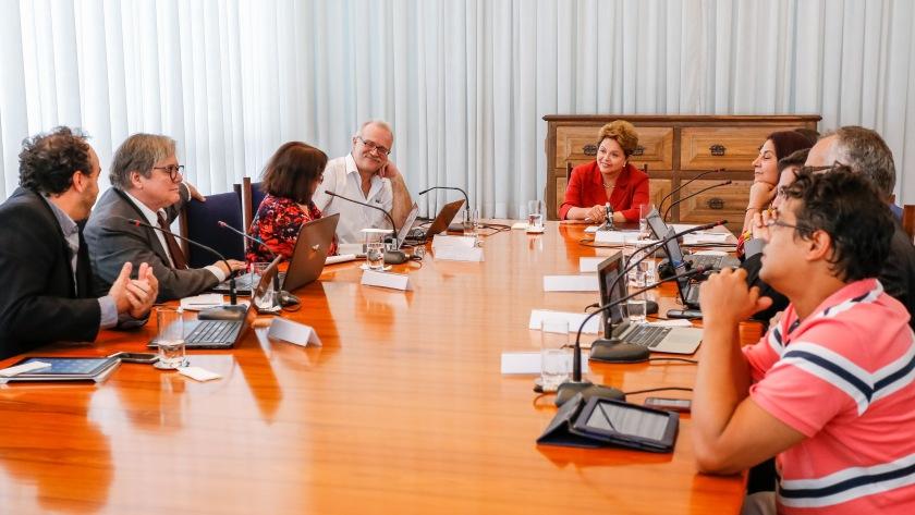 Dilma recebe blogueiros/as para entrevista  no Palácio do Planalto - Ichiro Guerra/Fotos Públicas