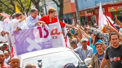 Dilma e Pimentel, candidato ao governo de Minas, em Venda Nova - Ichiro Guerra/Fotos Públicas