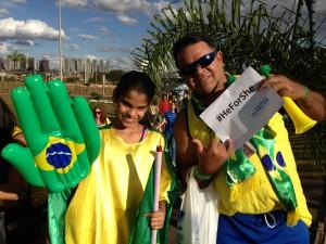 A campanha foi recebida no Brasil durante a Copa do Mundo - Foto: capturada no sítio da ONU Mulheres