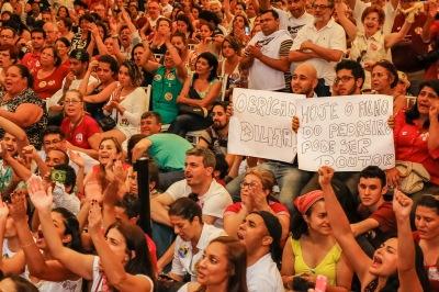 Ato de professores com Dilma em São Paulo, dia 15 - Foto: Ichiro Guerra/Dilma 13/Fotos Públicas