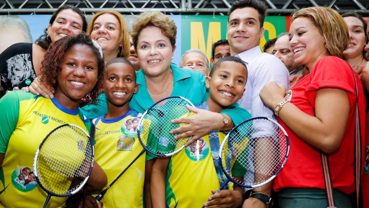 Dilma com em encontro com atletas no Rio de Janeiro, na terça, 30 - Foto: Ichiro Guerra/Dilma 13/Fotos Públicas