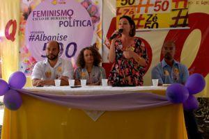 Luciana com Edilson (D) em evento de campanha no Recife - Foto: Divulgação