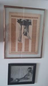 Os quadros das reminiscências da infância ainda estão na parede: a montagem reportagem sobre a fome no Vale do Jequitinhonha, presente do amigo e parceiro na empreitada, Marcelo Prates/1985 e...