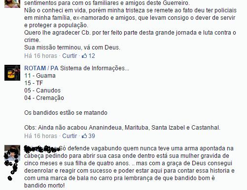 Contagem dos mortos à 1:30 da madrugada deste 05.11.2014, em Belém, segundo a Rotam