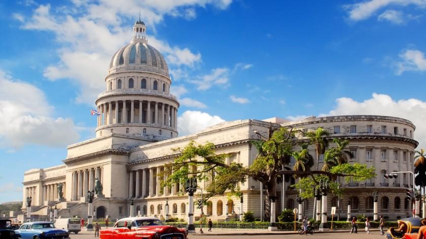 O Capitólio, em Havana, sede nacional do Poder Popular - Foto capturada na Internet
