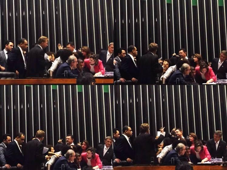 Furdunço obscurantista protagonizado pela bancada religiosa fundamentalista na Câmara dos Deputados - Foto: FB/Jean Wyllys