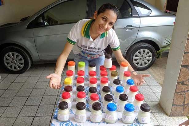 No auge produção de leite materno, Michele e o marido rodavam 80 km para exercer a solidariedade - Foto: arquivo pessoal