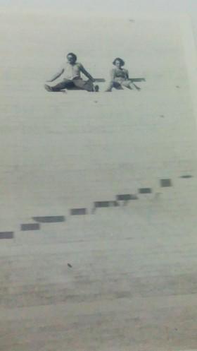 Na escadaria da igrejinha de Tiros, Beto e Euzinha clicados por Marcelo Prates na mesma viagem