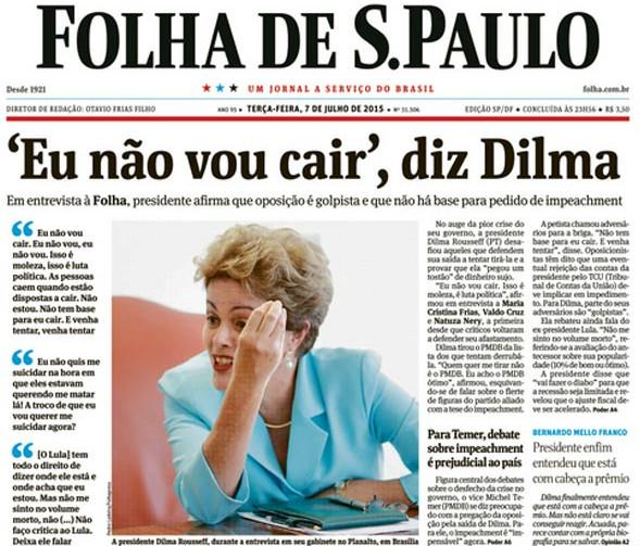 Dilma na folha_golpe