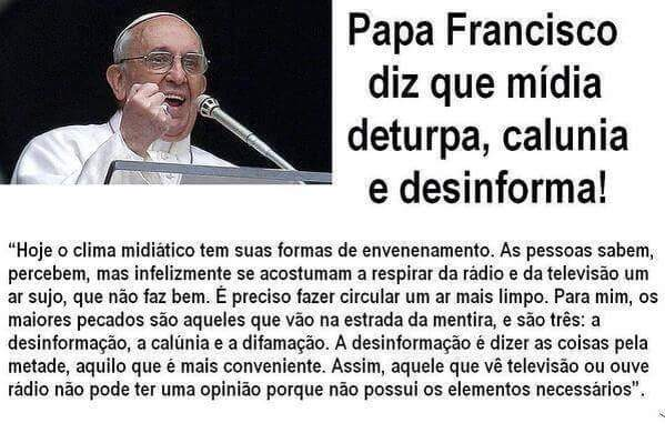 Papa Francisco e a midia golpista