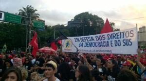 No Recife, da concentração ao ato final reinou a tranquilidade - Foto: MudaMais/Twitter