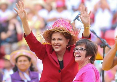 A presidenta Dilma garante às parceiras que não haverá retrocesso de direitos
