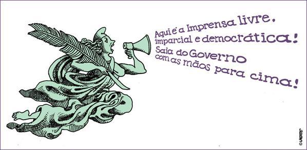 laerte e o pig e a democracia