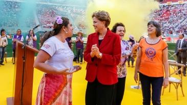 Dilma no ato de encerramento da 5ª edição da Marcha das Margaridas, Brasília-DF, 12 de agosto de 2104. Foto: Roberto Stuckert Filho/PR/Fotos Públicas