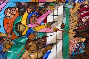 Frei Caneca e a Confederação do Equador: detalhe do painel de Cícero Dias na Casa daCultura, no Recife