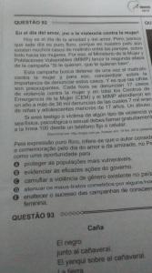 Enem Mulher-espanhol