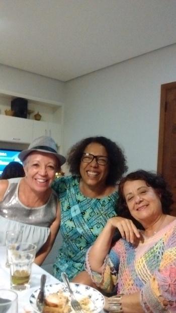 Euzinha, Eneida da Costa e Margareth Petersen - Foto: Hélder da Costa