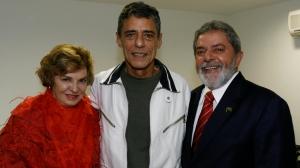 Chico, entre Marisa Letícia e Lula em 2007 - Foto:Ricardo Stuckert - Instituto LUla