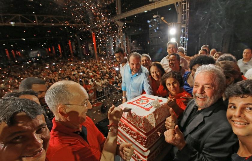 Lula da Silva na festa de aniversário de 36 do PT, no Rio de Janeiro - Foto:Ricardo Stuckert/Instituto Lula/Fotos Públicas