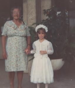Com Carol, na formatura do pré, BH/1989