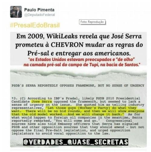 Wikileaks e o presal