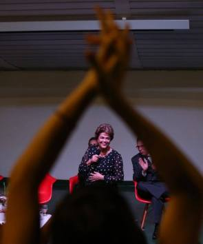 Dilma. muito à vontade, na UNB - Foto: Lula Marques/Jornalistas Livres