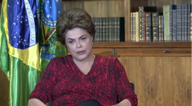 Dilma gravou a entrevista  a Luis Nassif no Palácio da Alvorada, no domingo, 05