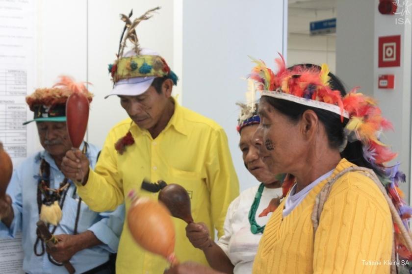 Em maio, Guarani fizeram mobilização na Funai pela publicação dos estudos da TI onde aconteceu o ataque | Tatiane Klein-ISA