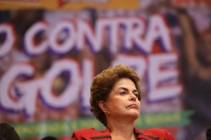 Dilma Rousseff durante ato pela Democracia da Frente Povo Sem Medo, Casa Portugal, São Paulo - Foto: Paulo Pinto/AGPT