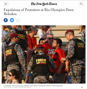 ForaTemer nos jogos_NYT