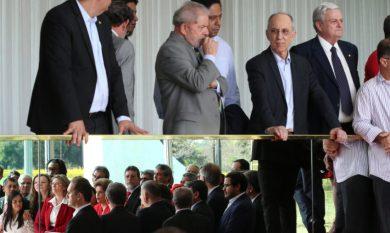 Brasília- DF 31-08-2016 Presdienta dilma, ministros, deputados e senadores durante proninciamento após a votação do seu impeachment. Foto Lula Marques/Agência PT