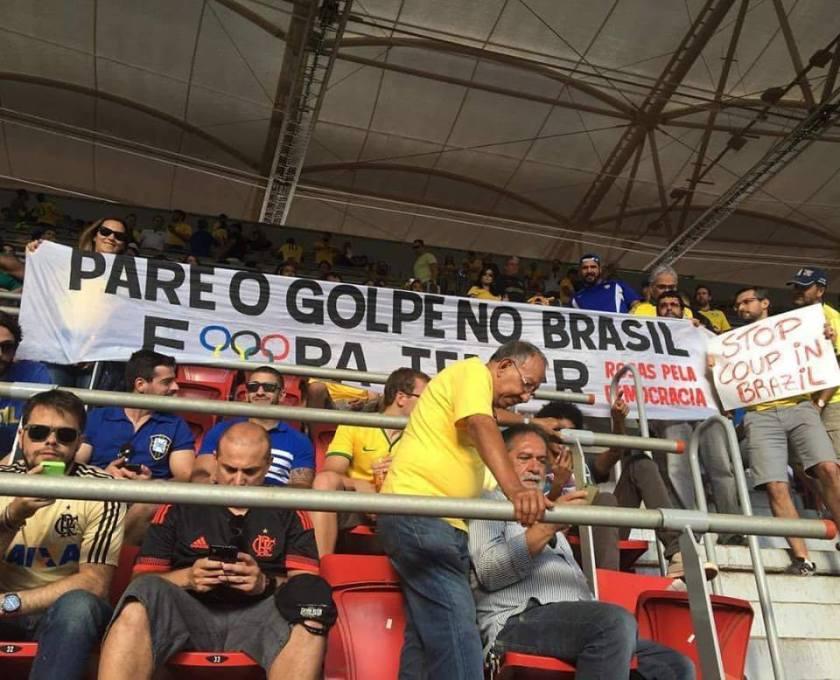 Apesar da truculência e da omissão, os protestos não cessaram durante os Jogos Olímpicos - Foto:Jornalistas Livres